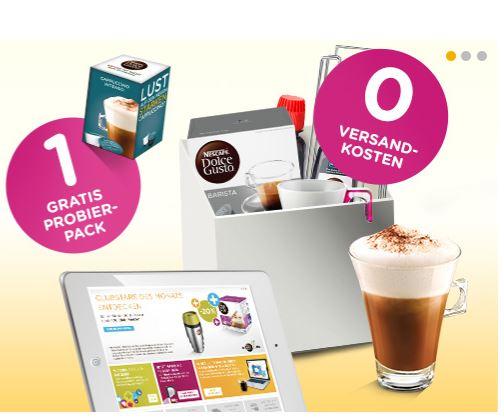 Versandkostenfrei ab 15€ + Cappuccino Intenso Probierpack gratis