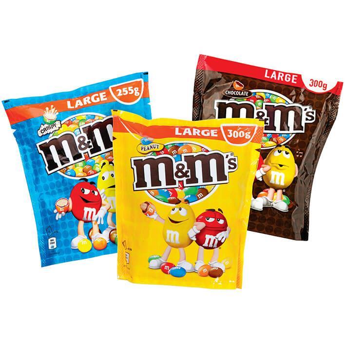 1+1 Gratis M&M's Peanut Choco Crispy 255-300 gram (€1,45 stk) @ Albert Heijn NL [Grenzgänger Niederlande]