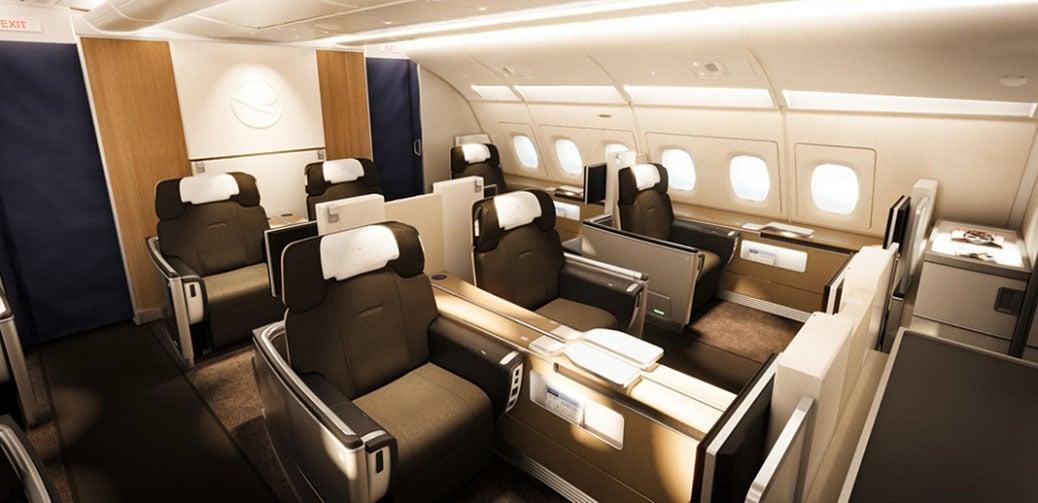 Lufthansa / SWISS First- (ab 1650 EUR p.P.) und Businessclass Angebote für Paare ab UK