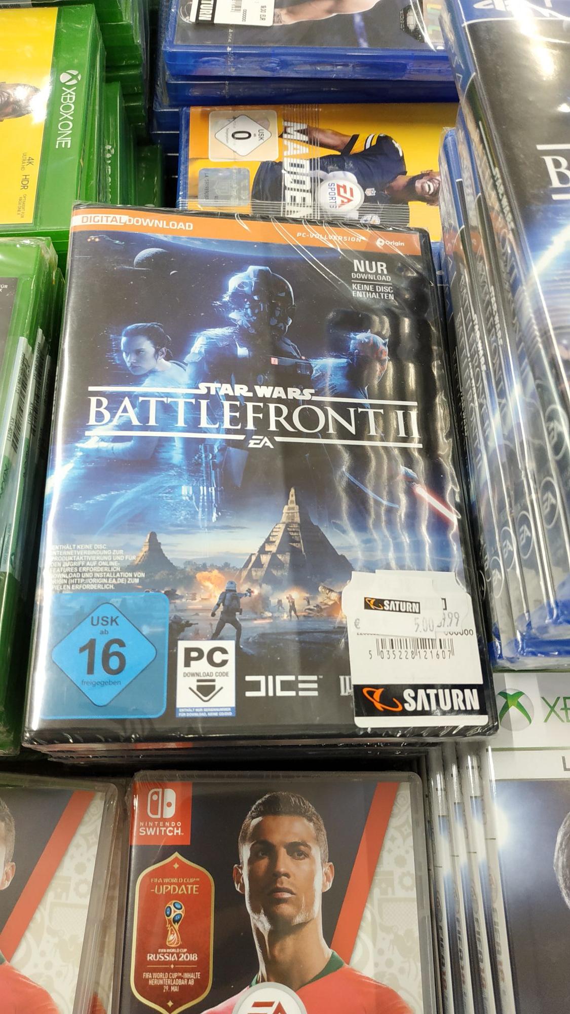 [Lokal Köln Saturn Hohe Straße] Star Wars Battlefront II / 2 für PC (Origin)