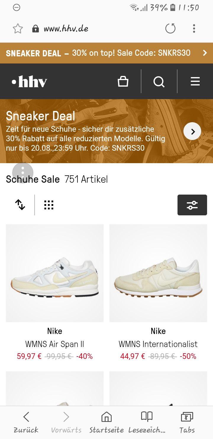 Sneaker Deal bei hhv.de