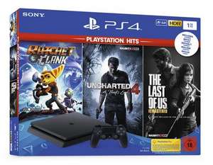 PS 4 1TB Hits Bundle inkl. The Last of Us, Uncharted 4 und Ratchet & Clank [REAL und MÜLLER]