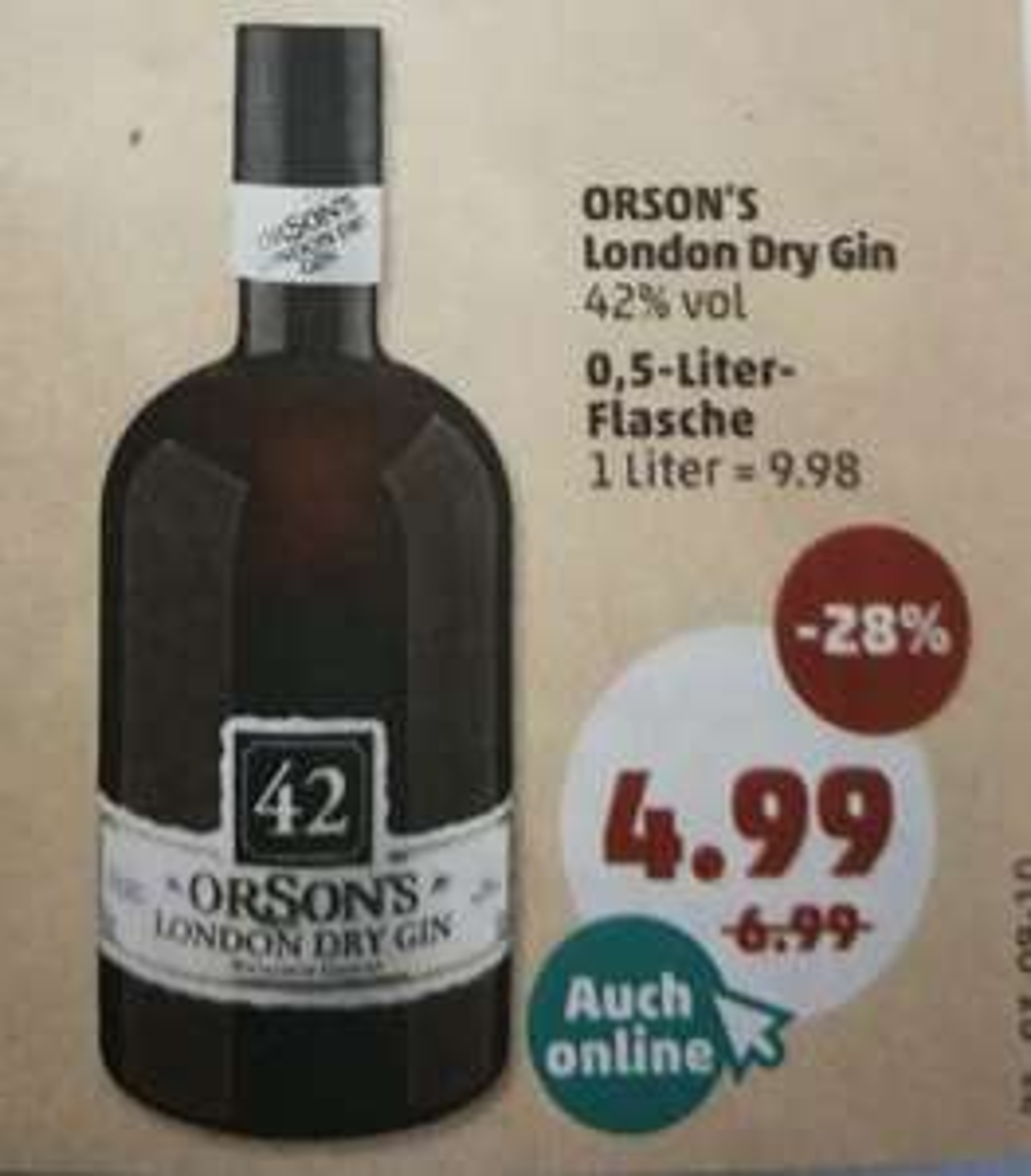 [Penny] ORSON´S London Dry Gin für 4,99