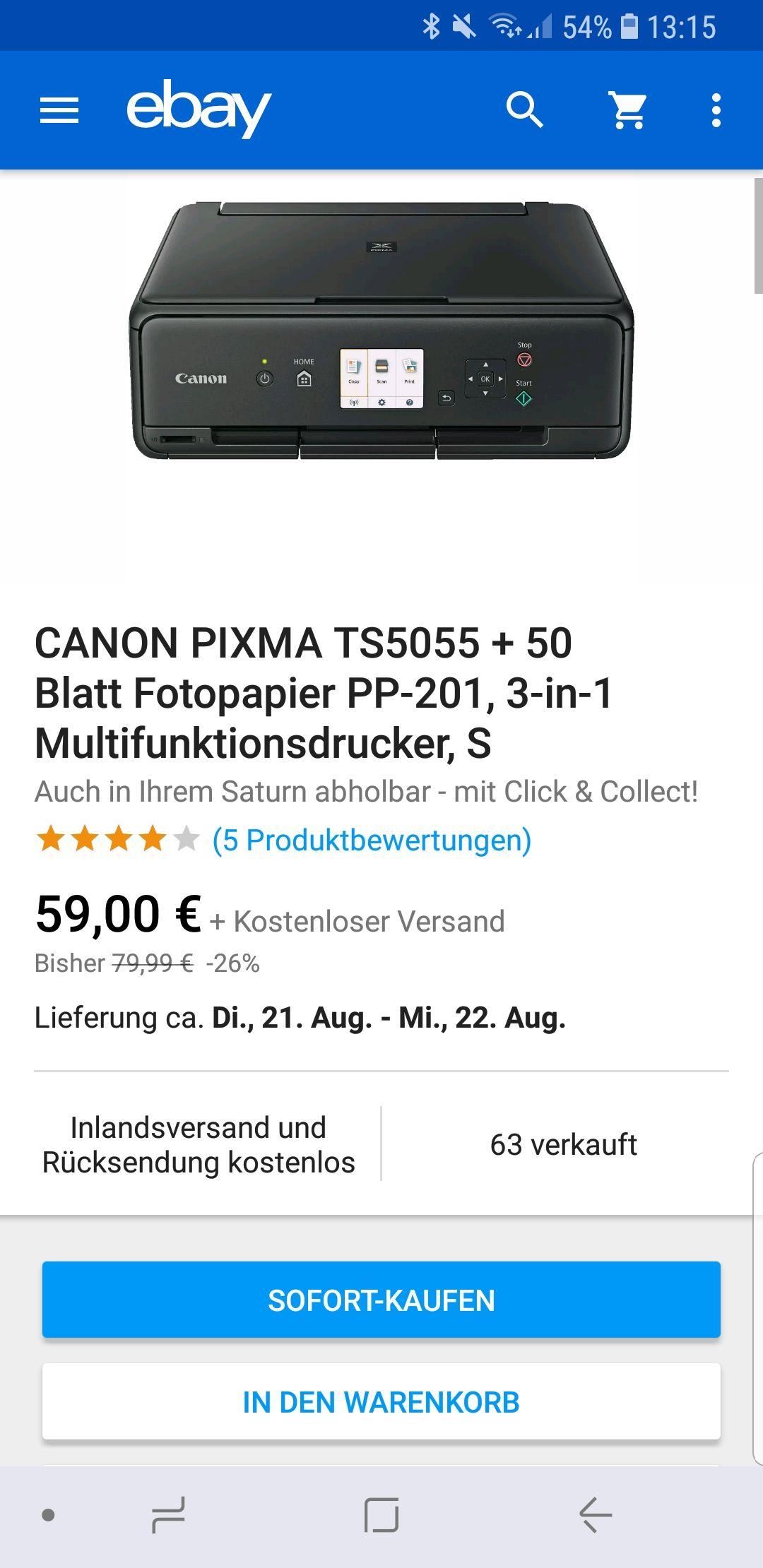 [Ebay Saturn] Drucker Canon TS 5055