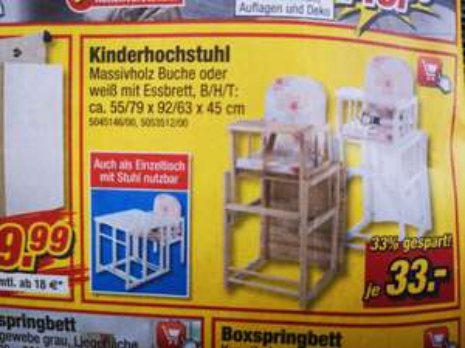"""Kinderhochstuhl bei Poco """"Preis Streich-Wochen"""""""