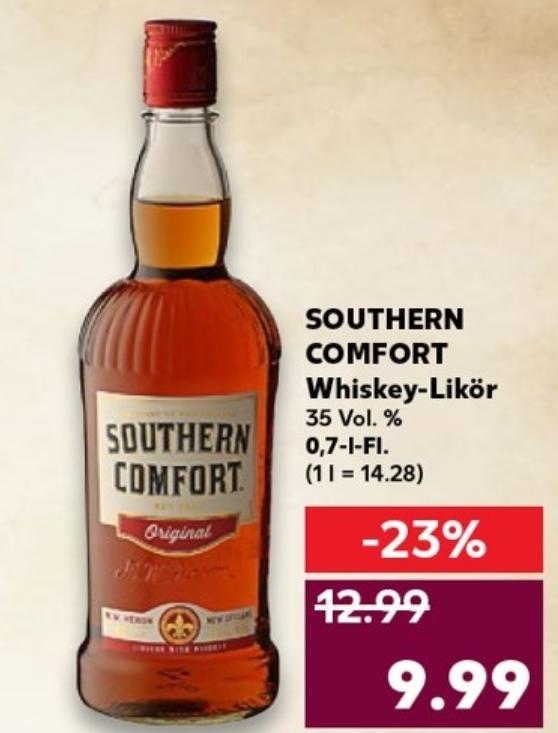 Southern Comfort - 0,7l-Fl. für 9,99 € ( ggf.  sogar inkl. einer Fl. Coke) @ Kaufland ab 23.08.
