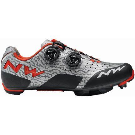 Fahrradschuh MTB Northwave Rebel grey/black/red