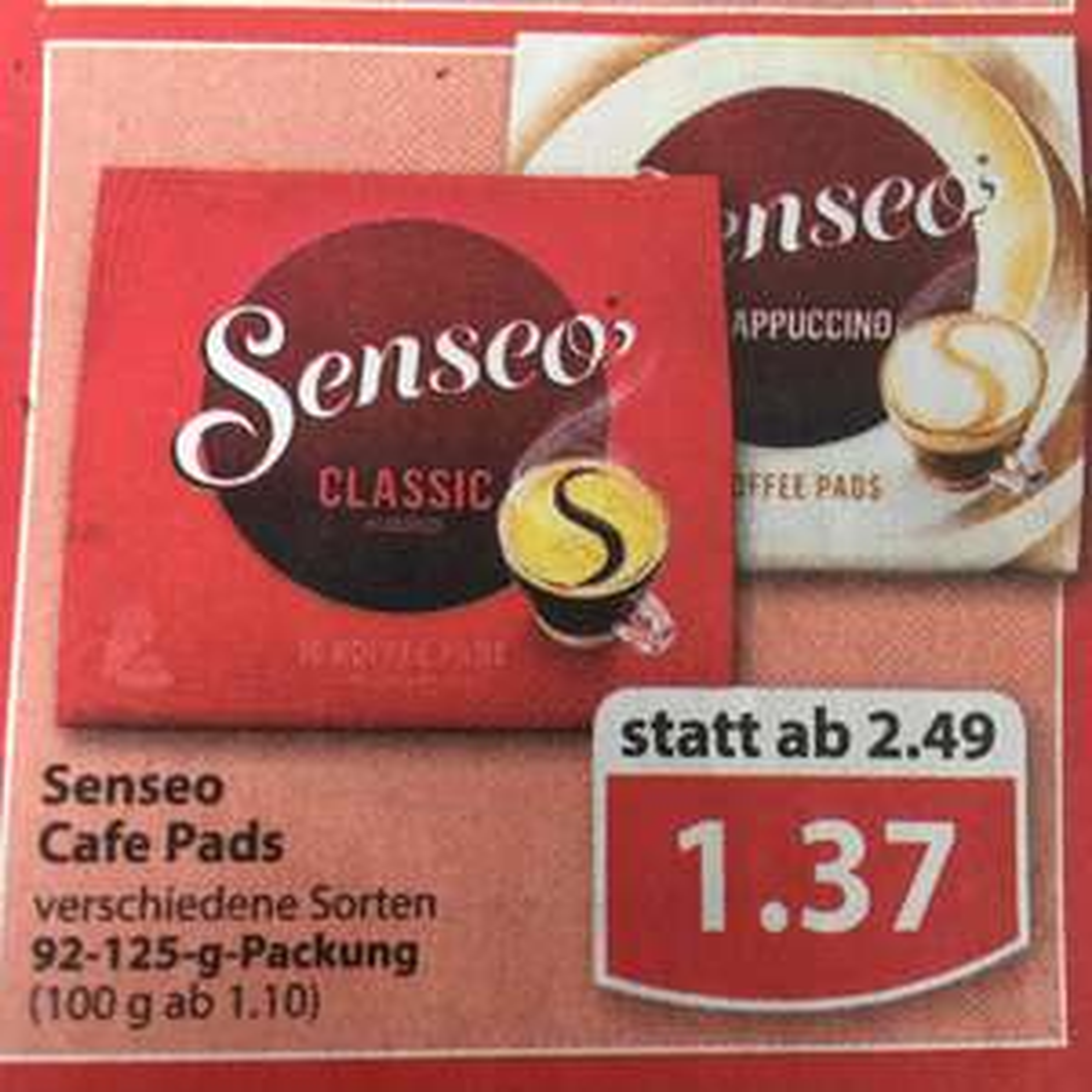 Senseo Cafe Pads verschiedene Sorten (Regional)