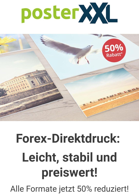 PosterXXL Forex-Direktdruck Alle Formate 50% reduziert