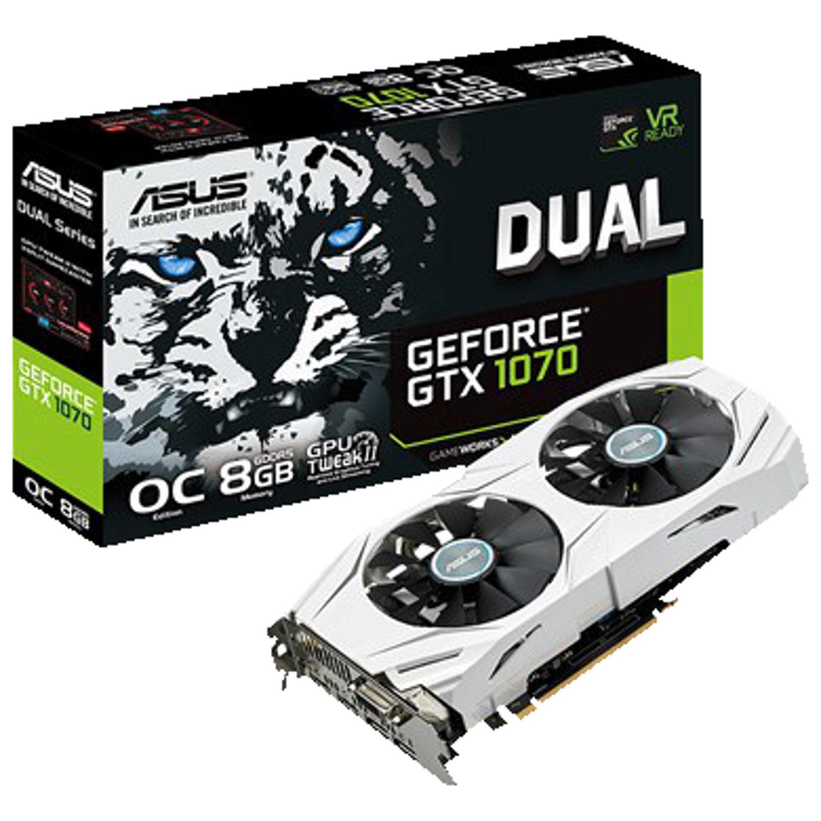 Asus GeForce GTX 1070 OC Dual 8GB für 368,10€ (eBay)