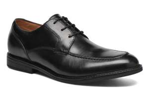 [Lokal NL Roermond] Clarks Beckfield Apron, men's shoe in black leather - im Outlet vom 25.08 - 26.08