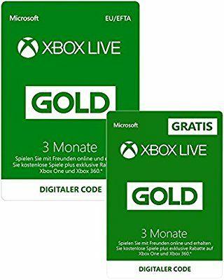 3 Monate Xbox Live Gold + 3 Monate GRATIS | Xbox Live Download Code