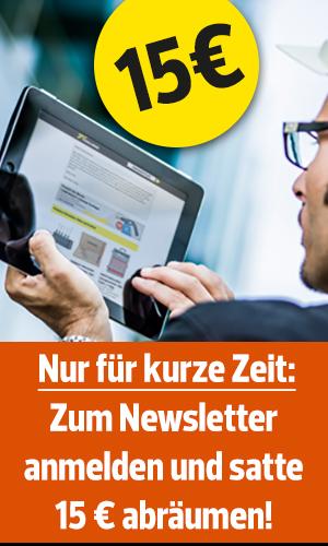 [Toolineo] Nur kurze Zeit: 15 € Gutschein bei Newsletterregistrierung / 100€ MBW