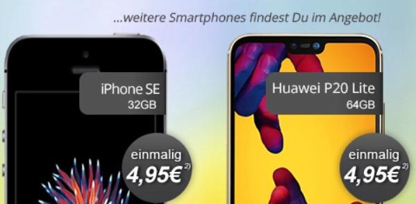 klarmobil Allnet Flat 6GB (Vodafone Netz) für 19,99€ im Monat + verschiedene Smartphones mit geringen Zuzahlungen z.B. Huawei P20 Lite für 4,95€