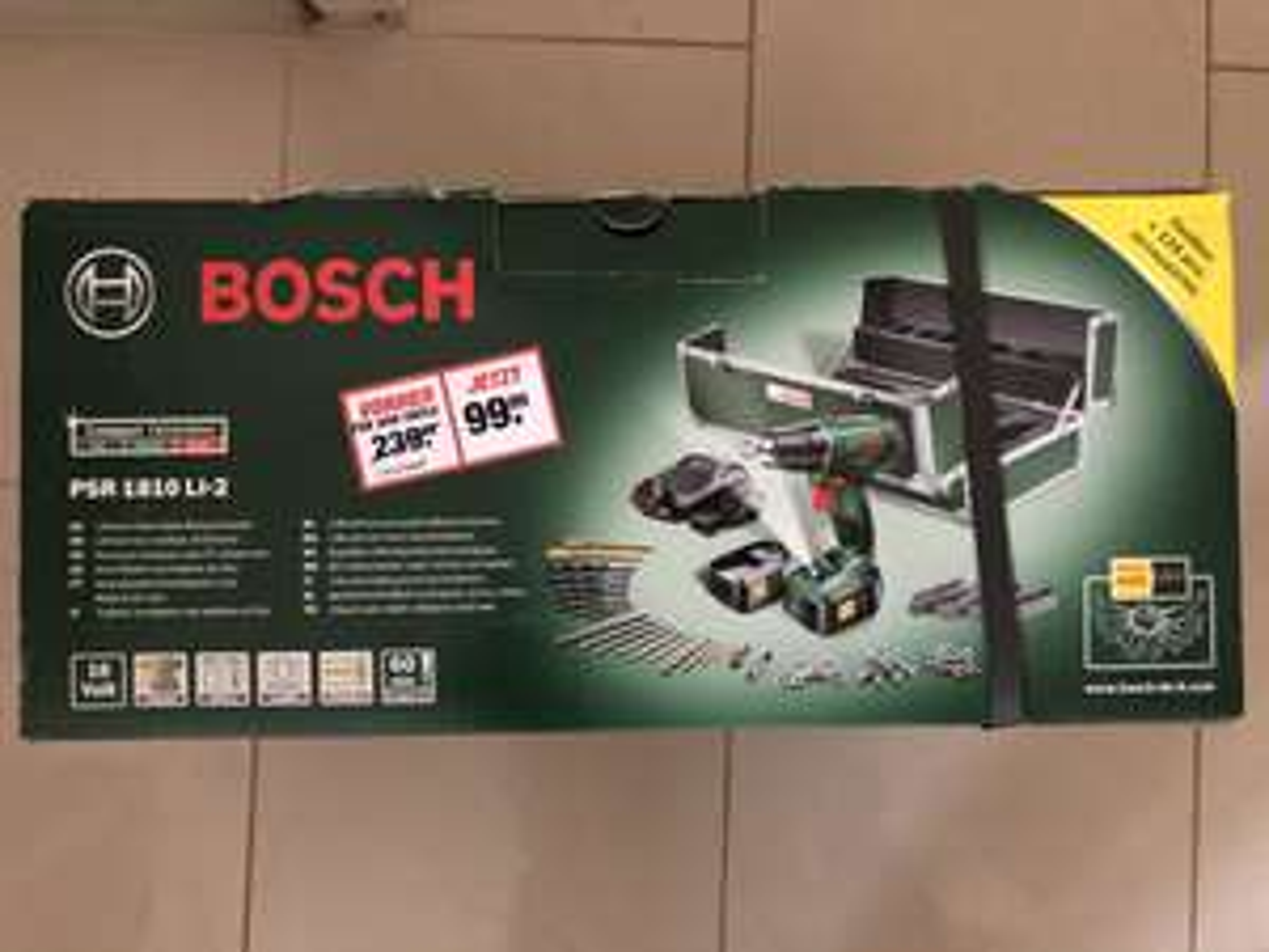 Toom Baumarkt Bosch PSR 1810 Li-2 Akkuschrauber 18V