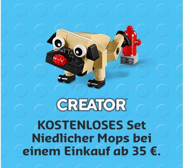 Kostenloser LEGO Mops (MBW 35€)