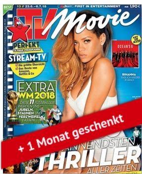 [Kiosknews]TV MOVIE Abo (13 Monate) für 59,80 € mit 60€ BestChoice-Gutschein