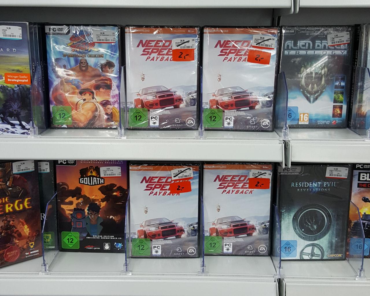 [Lokal Erfurt] Need for Speed Payback PC Vollversion Retail für nur 2 Euro im Media Markt Thüringen-Park