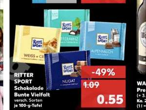 kaufland ritter sport bunte vielfalt 100g f r nur 55. Black Bedroom Furniture Sets. Home Design Ideas