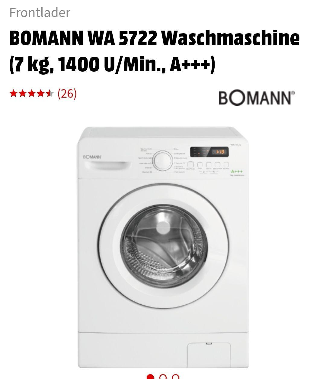 [Lokal Media Markt Gießen] Bomann WA 5722 Frontlader A+++Waschmaschine