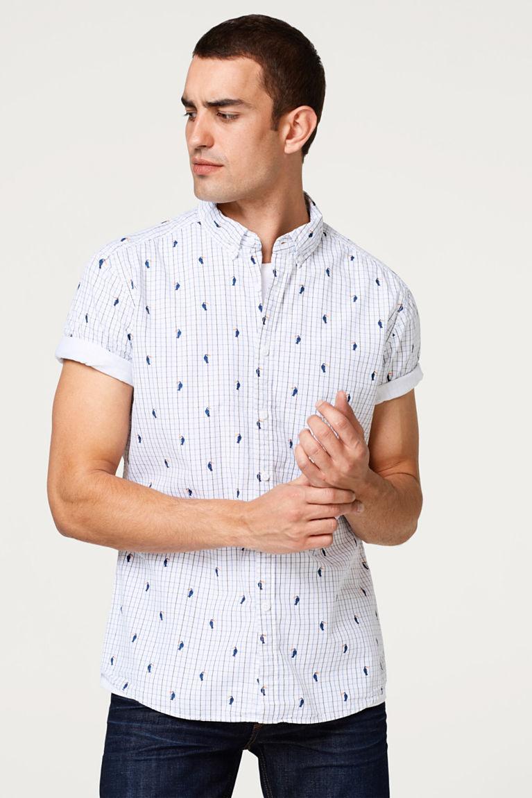 Esprit  Kurzarmhemd mit Tukane-Print 75% Rabatt