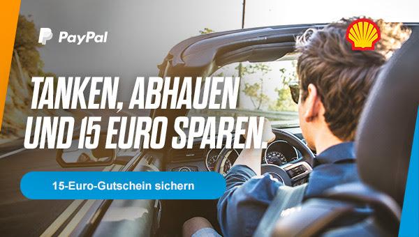 Bei Shell tanken und 15€ Gutschein sichern @ PayPal