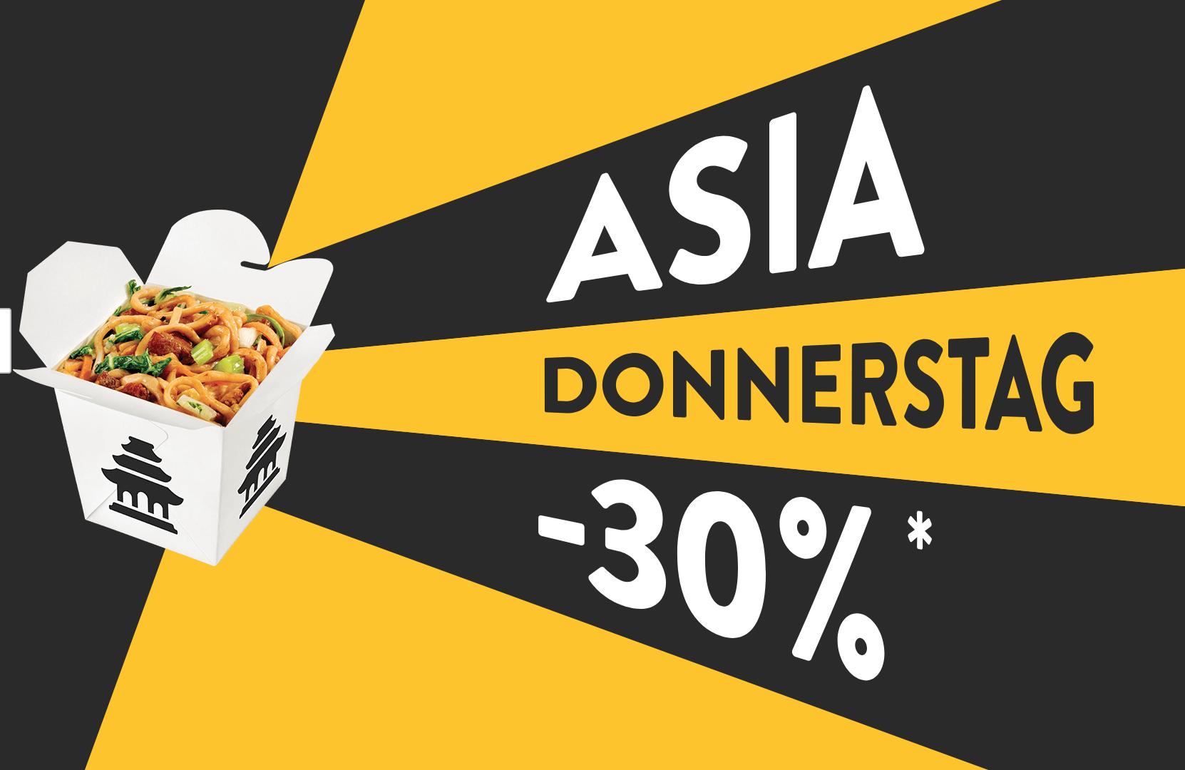 [Pizza.de ausgewählte Restaurants] Asia-Donnerstag mit 30 %