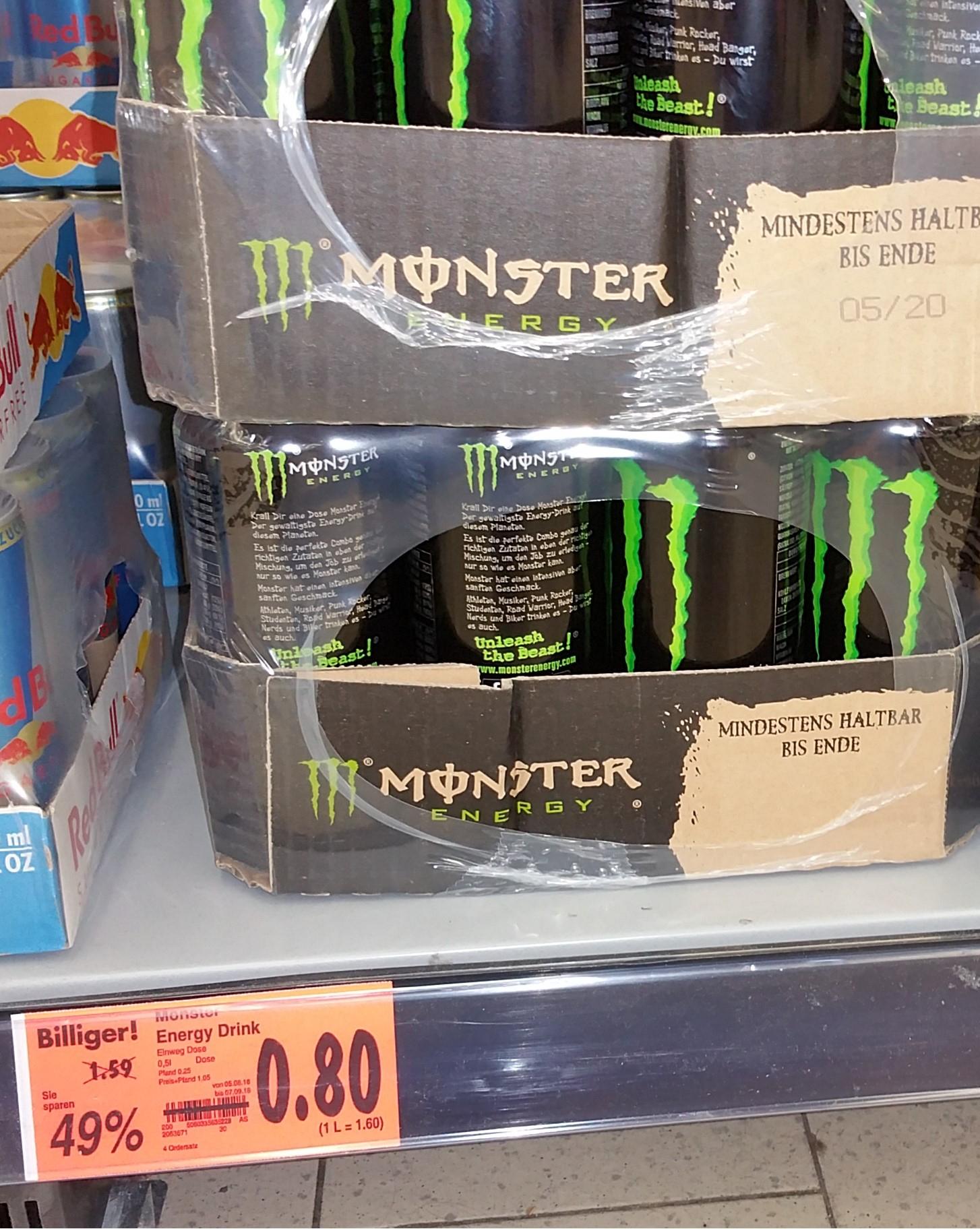 [Bundesweiter Abverkauf?] Monster Energy 500ml 0,80€ bei Kaufland