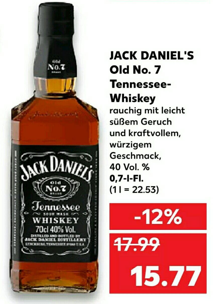 [Kaufland] Jack Daniels Whiskey 0,7L - bundesweit