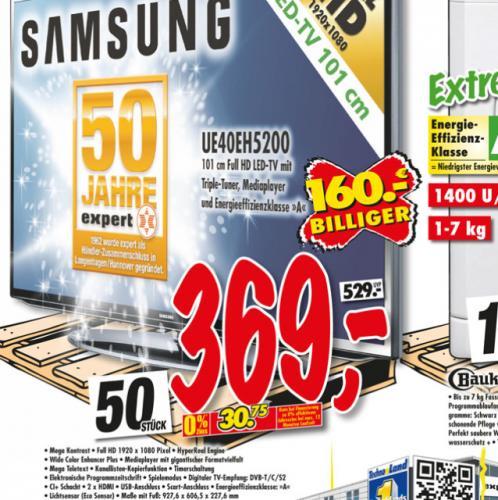 Samsung UE40EH 5200 Full HD LED-Tv @ Technoland 369€