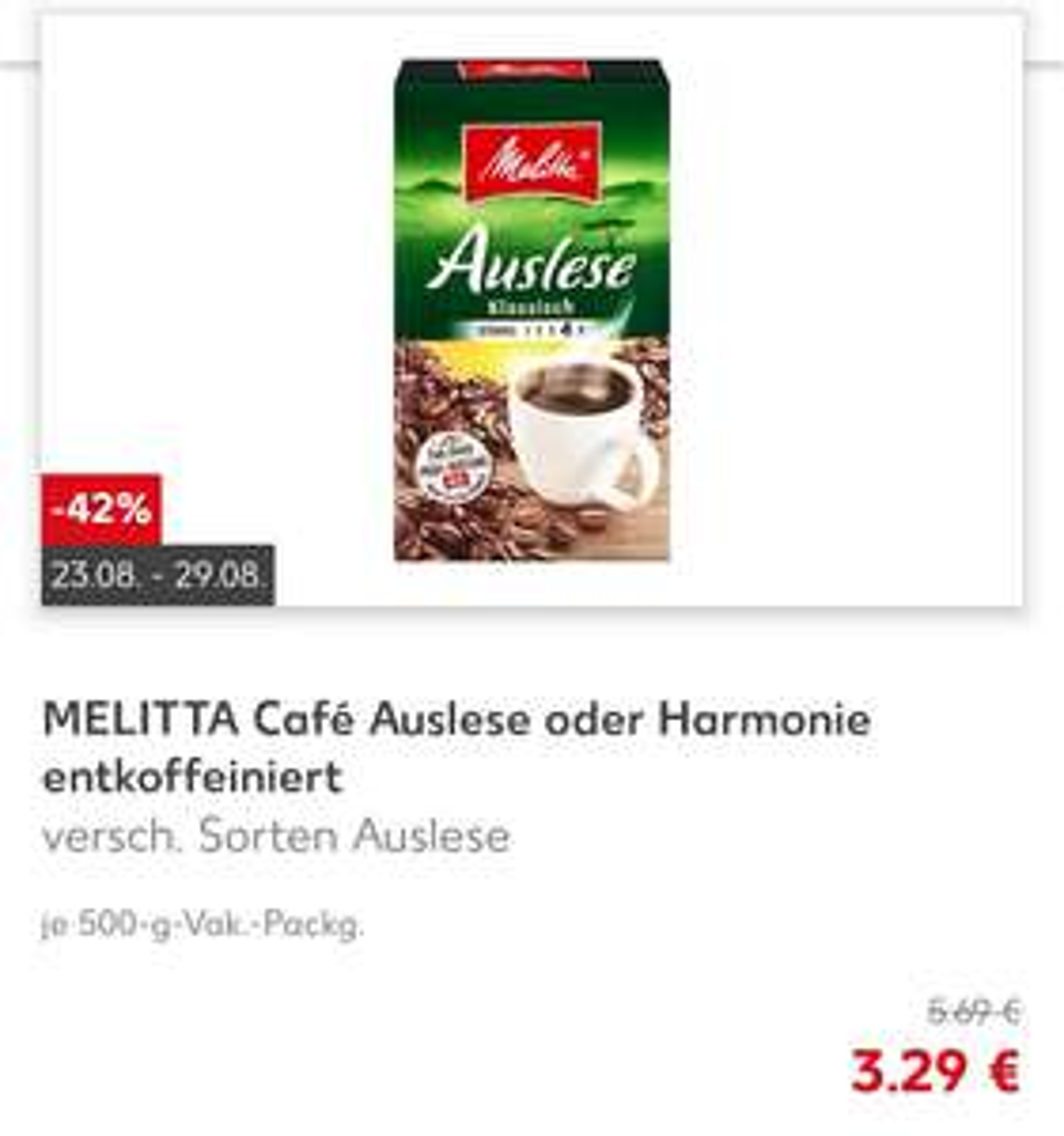 Melitta Kaffee 500g - Kaufland (National)