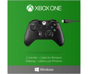 [saturn] MICROSOFT Xbox Controller + Cable for Windows Controller, Schwarz (4N6-00002)