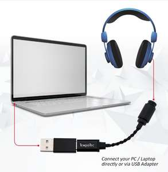 Besserer Smartphone Sound: TempoTec Sonata USB DAC - kleiner USB-C DAC, Hi-res Sound, 24bit/192KHz für iPhone/Android, versandfrei