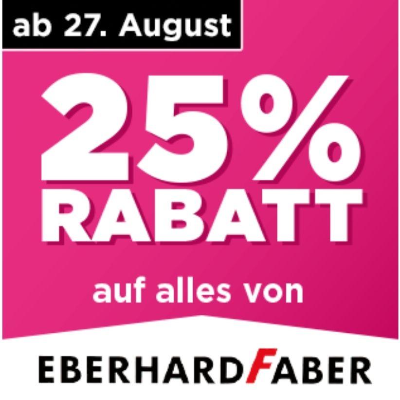 25% Rabatt auf alles von Eberhard Faber. Die Große Schulaktion [Mäc-Geiz]