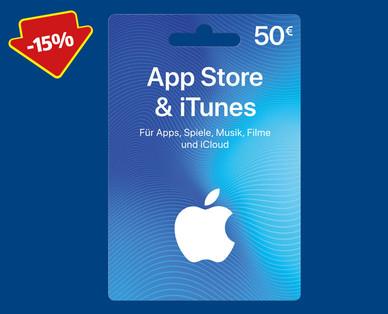 10 bis 15 % Rabatt auf Geschenkkarte für App Store & iTunes