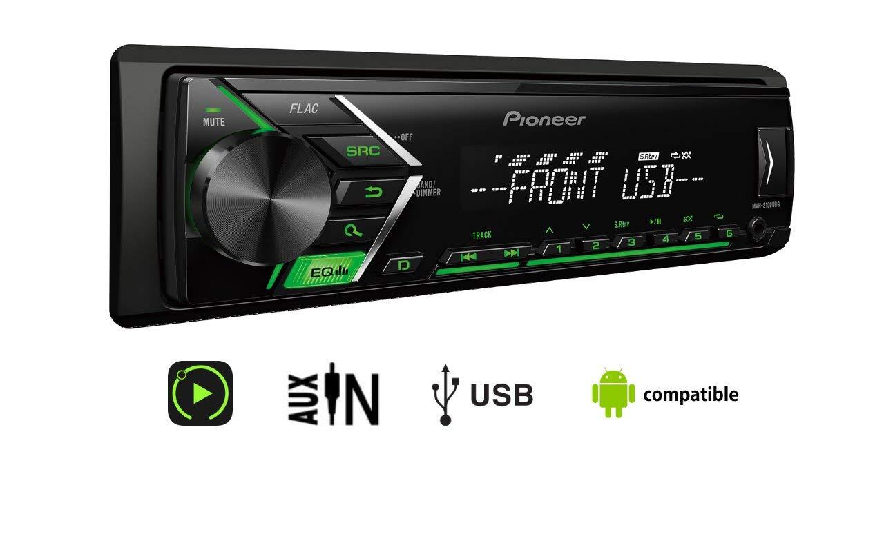 Pioneer MVH-S100UBG 1/2 Din Autoradio mit Aux-In und USB, RDS Tuner, Auto MP3 Tuner, Wiedergabe von MP3 WMA WAV FLAC über MOS-FET 4X 50W für 22€ inkl. Versand (Saturn)