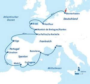 "Kreuzfahrt: MS Berlin ""Rund um Westeuropa"", 14 Nächte, 2 Personen, inkl. AI-Getränkepaket"