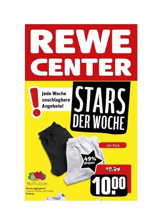 (offline) Rewe-Center: Fruit of the Loom Jogginghosen 2er Pack nur 10,-€ (statt 16,90€)