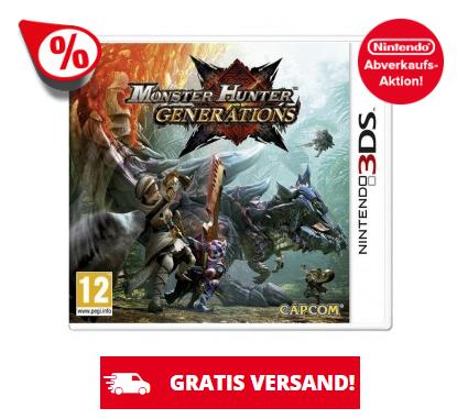 Nintendo 3DS Abverkaufs-Aktion! Monster Hunter: Generations 14,95€, Yo-Kai Watch 2 14,95€ uvm.