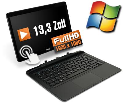 [Softwarebilliger.de] [Gebraucht] Dell Latitude 13 7350 13,3 Zoll Full-HD Convertible Laptop Notebook - Intel Core M-5Y10 bis 2x 2 GHz Turbo - Webcam - Windows (Deutsch)