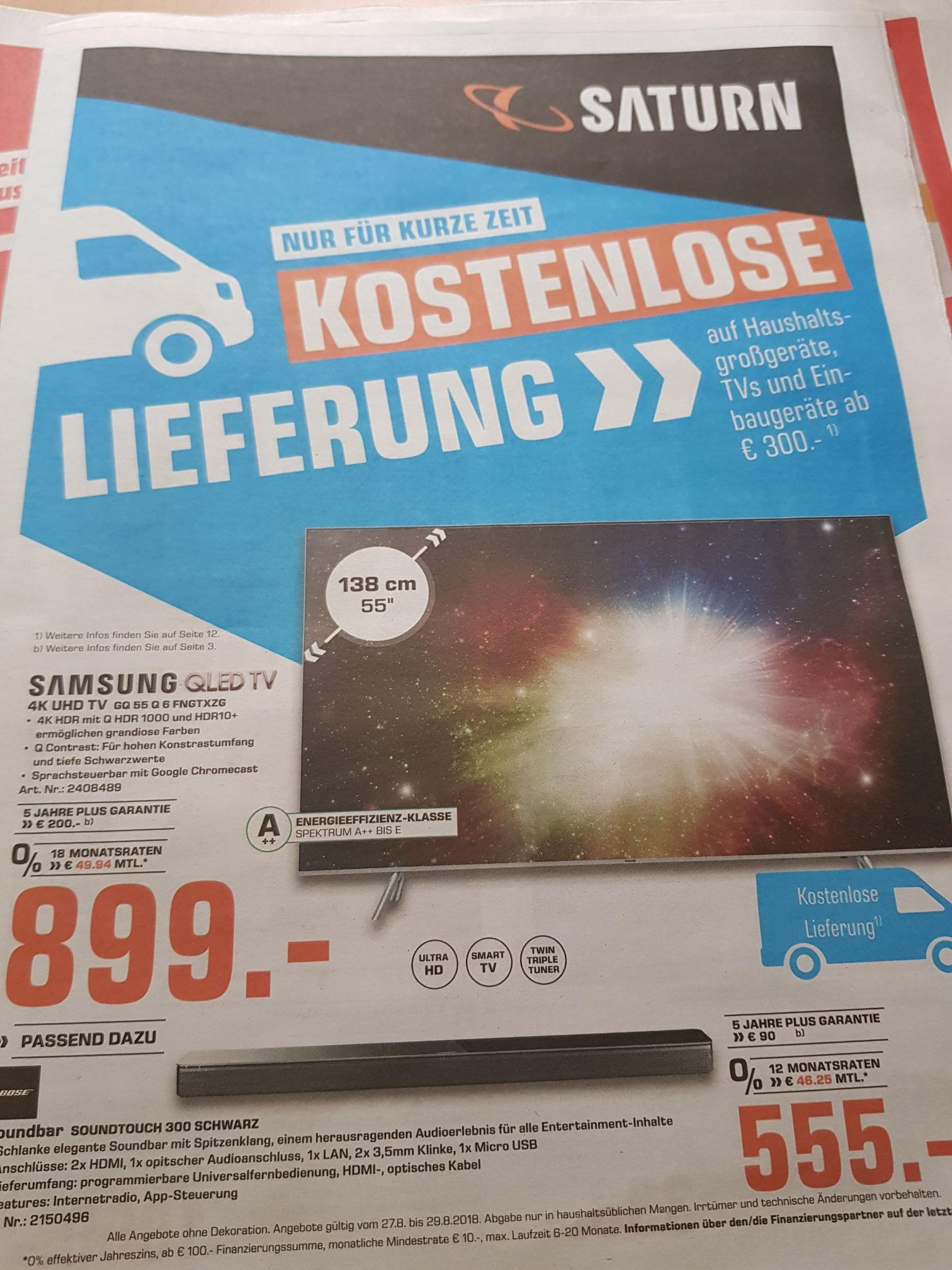 """Saturn  Lokal Mönchengladbach Samsung qled 55"""""""