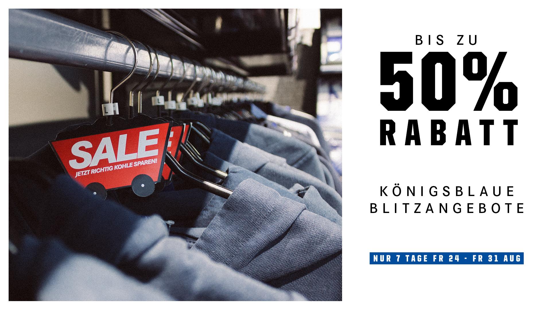 Bis 50 % Rabatt - Flash Sale im Fanshop von Schalke