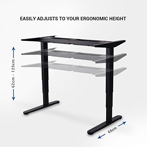 [amazon] FLEXISPOT E5B/W/S - elektrisch höhenverstellbares Tischgestell, 3-Fach-Teleskop (für alle gängigen Tischplatten, Memory-Steuerung, Softstart/-Stop) in weiß, schwarz oder grau // FLEXISPOT E2B für 265,99€ statt 379,99€