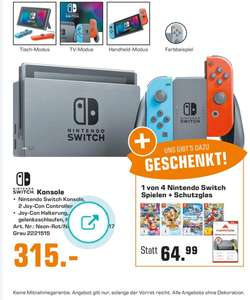 Switch + Mario Kart 8 + Displayfolie (Saturn) bei Abholung