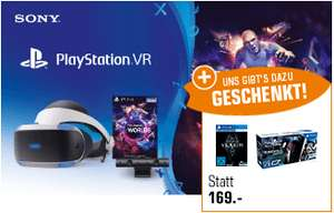 PlayStation VR + Camera + VR Worlds Voucher + The Elder Scrolls V: Skyrim + Firewall: Zero Hour mit PlayStation VR-Ziel-Controller