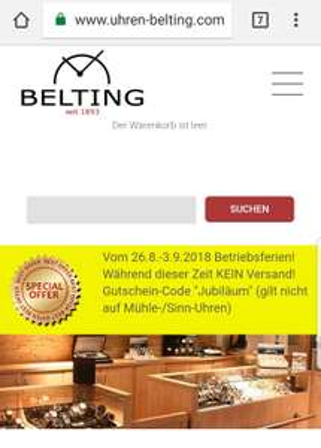 20% bei uhren-belting.com