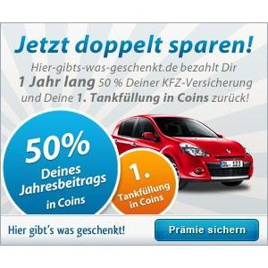 DirectLine KFZ-Versicherung mit 50% Cashback + 75€ fürs Tanken @HGWG