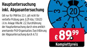 (ATU.de) Hauptuntersuchung inkl. Abgasuntersuchung TÜV HU/AU PKW bis 3,5T