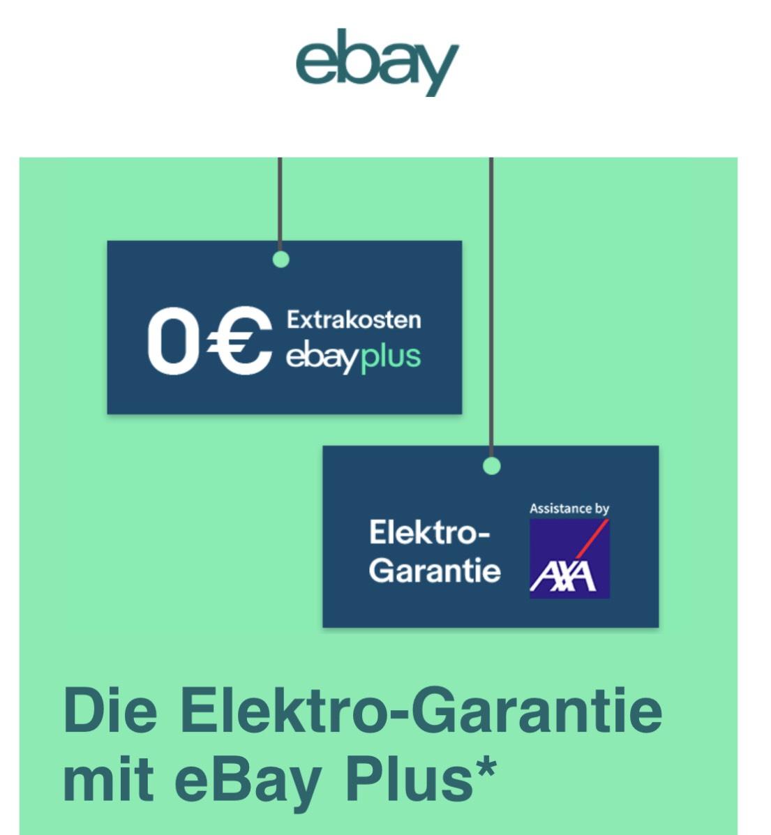 Die ElektroGarantie mit eBay Plus & AXA - 5 Jahre Garantie kostenlos, egal ob bei eBay erworben für (fast) alle Elektrogeräte