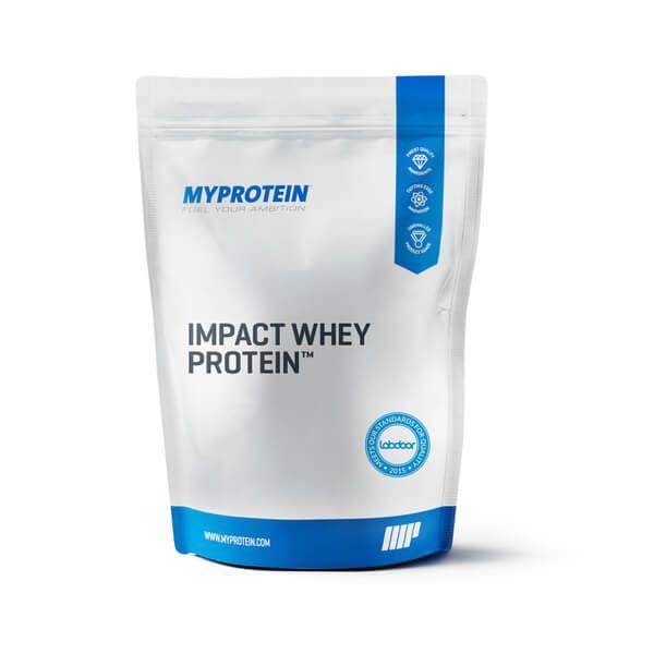 Myprotein 2,5 Kg Impact Whey Protein cremige Schokolade oder Erdbeer-Sahne für 20,99€ Kilopreis 8,40€